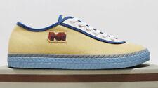 $450 NIB MARNI Men's Sand Cream Navy Canvas Low Top Shoes Sneakers 12-USA 45-EU