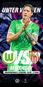 WOLFSBURG Germany SEVILLA Spain 2021 CHL official 16 pages