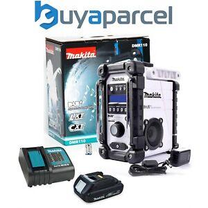 Makita DMR110W DAB PLUS 10.8v-18v White LI-ion Job Site Radio + Battery +Charger