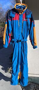 Vintage Unisex Snowsuit Hard Corps Sz L Large Snow Ski EUC