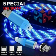 LED Light Up Charger Charging Cable USB Cord for iPhone Android Samsung PS4 XBOX