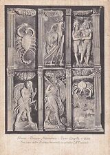 RIMINI - Tempio Malatestiano - 6 Segni dello Zodiaco decoranti un Pilastro 1948