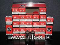 6189 RCA 12AU7 NOS NIB platinum matched pair ECC82 ECC802S