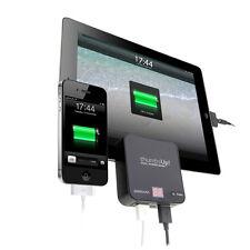 Thumbs Up! Dual Power Bank iPad iPhone Tablet Smartphone Dual USB 6600 mah BLACK