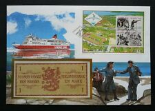 Aland Islands Games 1991 Sport Traditional Dance Ship FDC (banknote cover) *rare