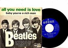 BEATLES 7' PS All You Need Is Love Spain DSOL 66080 NICE CONDITION Spanish 45