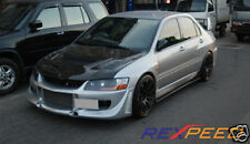 Carbon fibre DAMD style sideskirt extensions Mitsubishi EVO 7 8 9