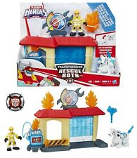 Playskool Heroes Transformers Rescue Bots - Griffin Rock Garage Kade & Dalmatian
