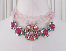 Betsey Johnson Sweet Shop Statement Necklace Beads Multi colored crystals  NWT