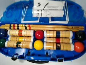 Sportcraft Gamelife 6 person Croquet set WOOD Mallets FAMILY FUN