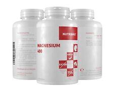 Nutrinax Magnesium 400 - 2x300 Kapseln - 400mg reines Magnesium Pulver Kapseln