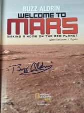 More details for buzz aldrin hand signed book welcome to mars hardbackedition with video evidence
