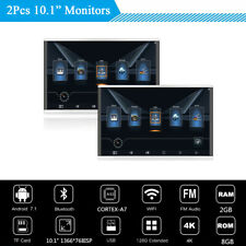 "2Pcs 10.1"" HD Car Headrest Monitors Android 7.1 WIFI 3G/4G BT HDMI Mirror Link"