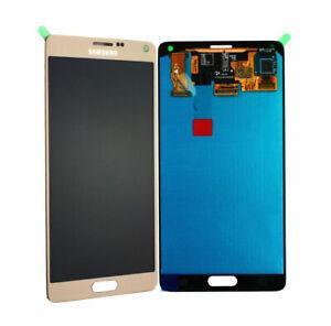 Für Samsung Galaxy Note 4 N910F Original Super AMOLED Display Touchscreen Gold