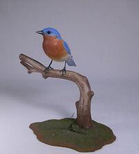 Male Eastern Bluebird Original Bird Carving/Birdhug