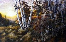 "Donald Blakney "" The Triple Grouse   Print  21.5"" x 14"""