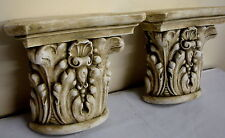 Shell leaf Capital Wall Corbel Sconce Bracket Pair Vintage Home Decor