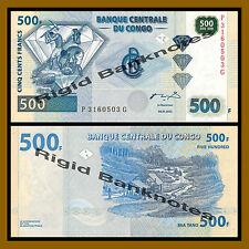 Congo D.R 500 Francs, 2002 P-96 Diamond Unc