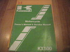 Kawasaki KX500-A1 Owner's & Service Manual  99920-1210-01