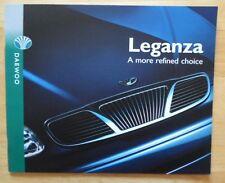 DAEWOO Leganza range orig 1997 UK Market larger format sales brochure