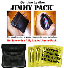 Discreet Condom Case -  Jimmy Pack Helps keep Condoms Safe and gives easy access