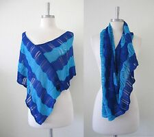 NEW Crochet fishnet thin knit Shawl Cape Poncho Scarf beach top cover up scarf