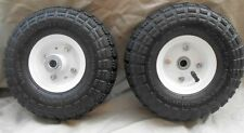 "2 TIRES 10"" NEW STEEL AIR PNEUMATIC, HAND TRUCK DOLLY, WAGON  WHEEL"