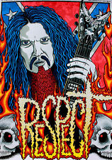 PANTERA DimeBag Darrell Abbott Ltd Ed Screen Print Poster - Heavy Metal Rock m/