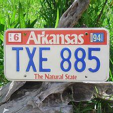 Véritable Plaque D'Immatriculation Arkansas (TXE885) - USA - License Plate