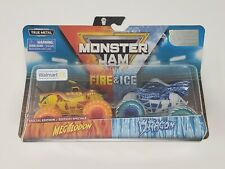 MEGALODON x DRAGON - FIRE & ICE Monster Jam Trucks - Walmart Exclusive 2019 HTF