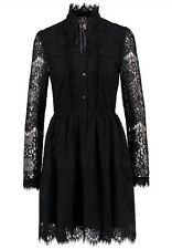 NWT RALPH LAUREN DENIM&SUPPLY WOMENS LACE BLACK STAND COLLAR SHIFT DRESS SIZE S