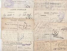 * 10 x WW1 & WW2 FRANCE PPCS - MILITARY CACHETS - GUERRE - WAR - MILITAIRE