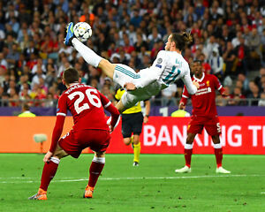 Gareth Bale Real Madrid Champions League Unsigned 8x10 Photo #1