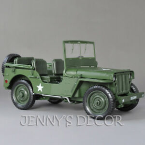 1:18 Diecast Car Model Toys Tactical Military Vehicle Willys Replica