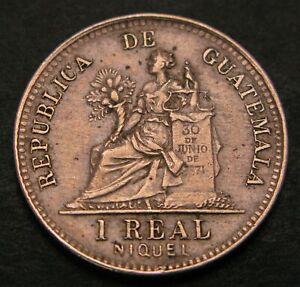 GUATEMALA 1 Real 1900 - Copper/Nickel - XF - 339