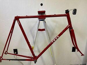 1984 Trek 400 lugged steel road bicycle frame fork True Temper 60 cm