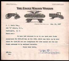 1927 Auburn NY - Eagle Wagon Works - Vintage Letter Head Rare History