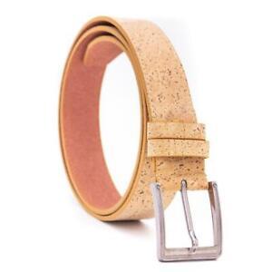 Men's belt handmade from eco-friendly cork leather