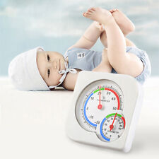 Nursery Baby House Room Mini Thermometer Wet Hygrometer Temperature Meter Qe