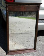 Vintage Traditional Flame Mahogany American Federal Style Wall Mirror