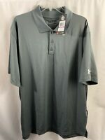 Men's Under Armour Loose Gray Polo Shirt Short Sleeve Size 2XL