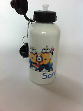 Minion  water bottle with personalised name boy/girl Ideal gift school