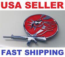 3D EMBLEM Merica-Statue GUN 4 JDM Red Front Rear Badge HONDA ACCORD CIVIC SEDAN