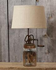 New Primitive Antique Style VINTAGE BUTTER CHURN LAMP Electric Table Light