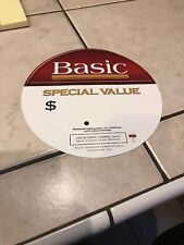 """***Basic Cigarette Display *RARE* With A Price Sign. 9"""" Round.***"""