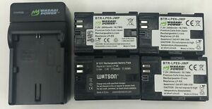 Lot of 4 Wasabi Power LP-E6 Canon EOS 5D Mark II/III/IV Replacement Battery
