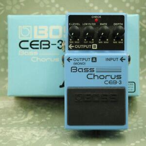 BOSS CEB-3 Bass Chorus With Original Box Guitar Effect Pedal H6B4566
