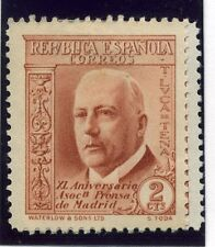 La Spagna; 1936 Madrid STAMPA ANNIVERSARIO questione BELLE Mint Hinged 2c. valore