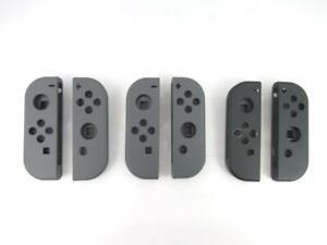 Lot of 3 Nintendo Switch End Grip Covers Grey Silicone Original Cases Only