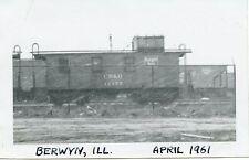 5F799 RP 1961 CB&Q BURLINGTON  RAILROAD CABOOSE 11175 OR 14175 BERWYN IL